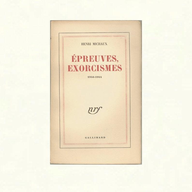 Épreuves Exorcismes 1940  1944 Prose Poetry Book by Henri image 0