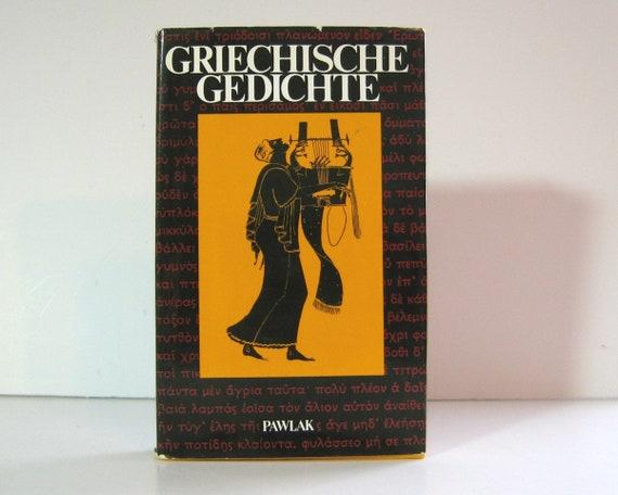 Griechische Gedichte Mit übertragungen Deutscher Dichter Greek Poetry With German Translations Horst Rüdiger Ancient Poetry Vintage Book