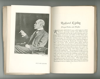 Rudyard Kipling, A Discussion of his Career with an Index to the American Edition of his Collected Works 1926 Vintage Book First Edition