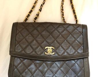 c5ff64fcf936 Authentic CHANEL Handbag - Brown