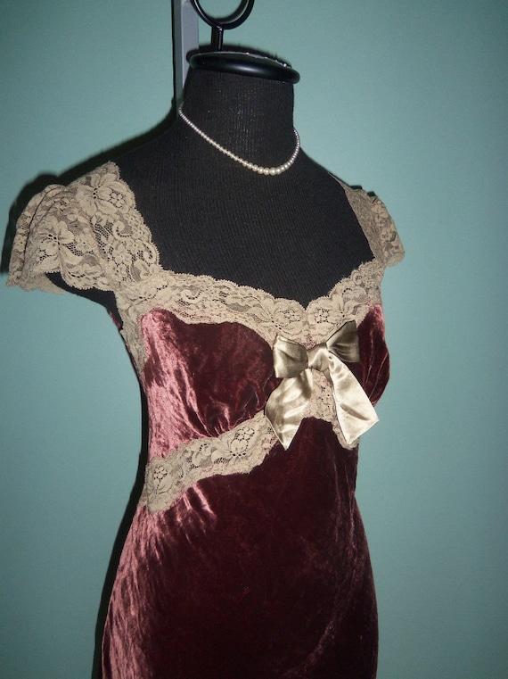 Betsey Johnson Dress Velvet Lace