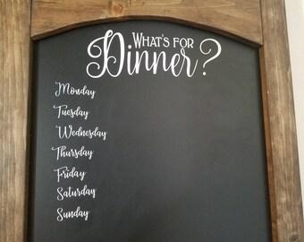 """24""""x39"""" Large kitchen chalkboard, Rustic chalkboard, wedding chalkboard, Rustic wedding, what's for dinner,  dinner chalkboard, menu board,"""