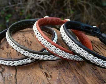 THOR leather cuff bangle. Custom Lapland Sami bracelet handmade for him and her