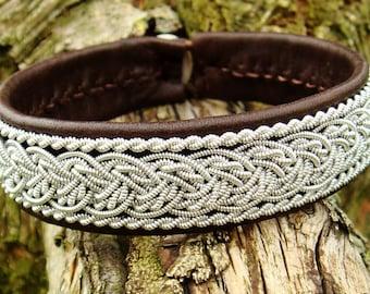 GRANI Lapland Sami bracelet. Scandinavian folklore leather cuff