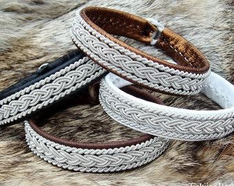 Viking MJOLNIR bracelet, Sami leather tenn armband, handmade Scandinavian folklore