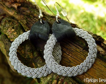 Viking earrings, ASGARD Lapland Sami dangle hoops