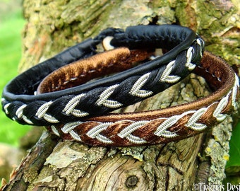 Lapland bracelet ODIN, handmade Norse pagan leather jewelry