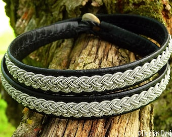 Scandinavian double wrap leather Lapland bracelet ASGARD
