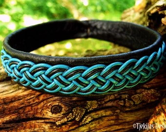 Scandinavian viking leather bracelet FREKI