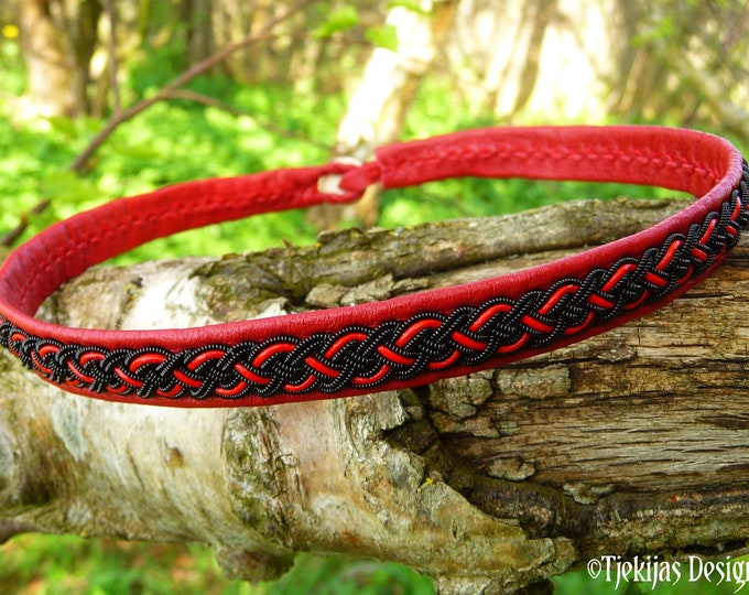 Black copper viking leather choker NIFLHEIM custom Sami craft