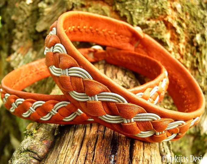 Men's viking leather bracelet FENRIS WOLF
