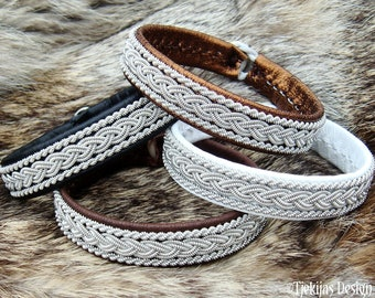Viking MJOLNIR bracelet, Sami leather tennarmband, handmade Scandinavian folklore