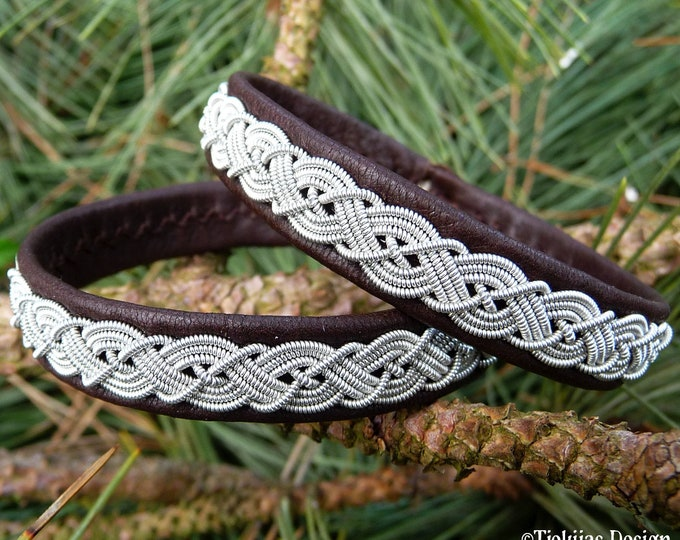 Sami bracelet MIDGARD leather viking wristband unisex cuff