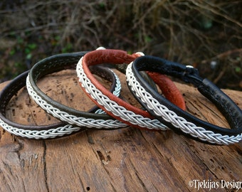 THOR leather cuff bangle, handmade Lapland Sami bracelet for him and her
