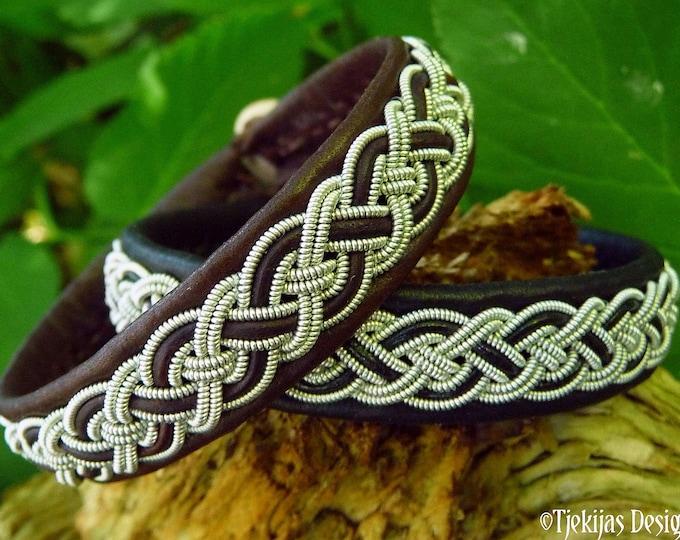 Sami bracelet NIFLHEIM, Lapland viking cuff, Handmade Nordic jewelry