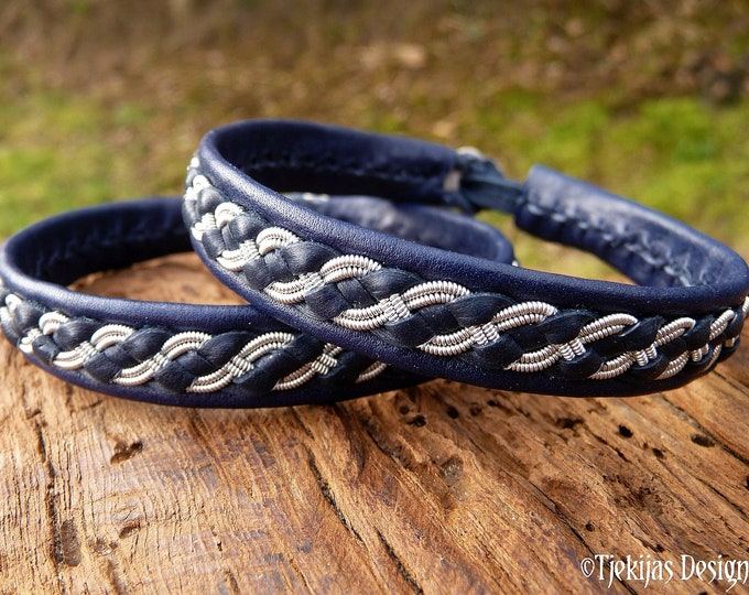 Featured listing image: FENRIR Sami bracelet, Swedish handmade tennarmband