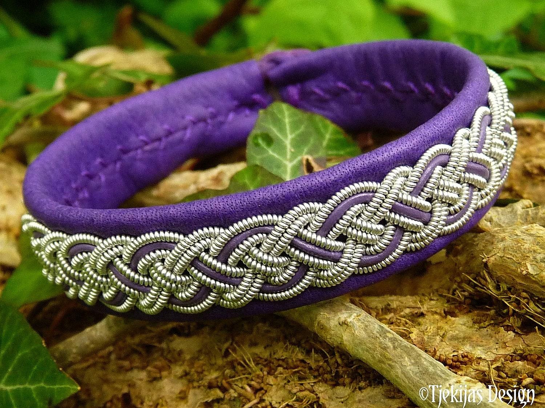 Blue Scandinavian Sami bracelet Everyday jewelry