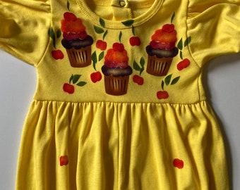 Cupcake baby girl romper