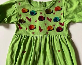 Snail Baby Girl Romper