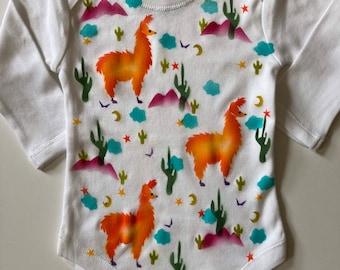 Llamas and cactus