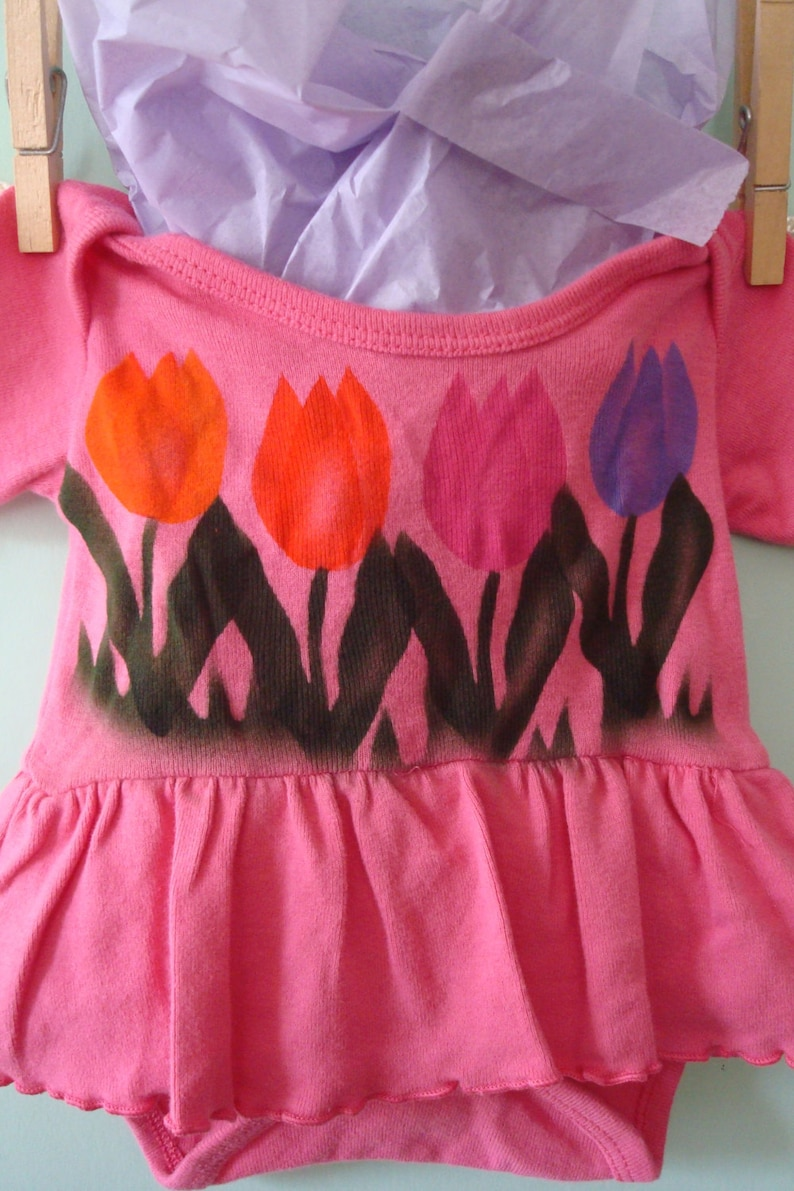 Hipster Baby Natural Cotton Fabric Hand Painted Beach Summer Dress Boho Baby Girl Tulip Dress Eco-Friendly Dyes Bohemian Baby Hippie