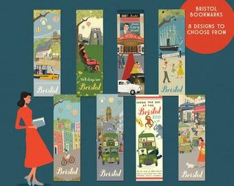 Bristol Bookmarks Book lover literary gift Bristol illustrations