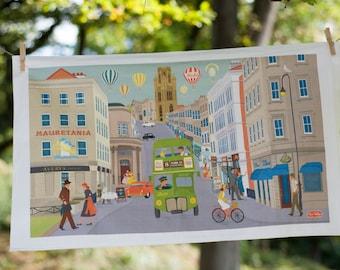 Bristol Tea Towel Park St