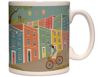 Bristol Mug Rainbow Houses