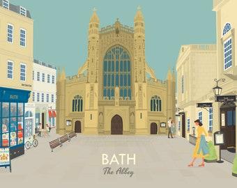 Bath Abbey Fine Art Print A4 A3 A2