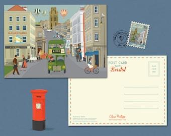 Bristol Postcard Park Street