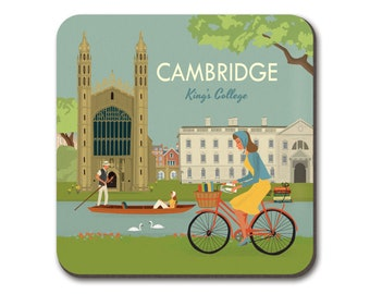 Cambridge Coaster Kings College and cyclist
