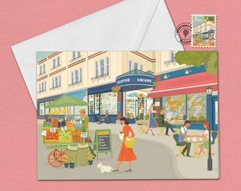 Bristol Greetings Card Clifton Village