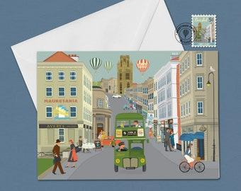 Bristol Greetings Card  Park Street