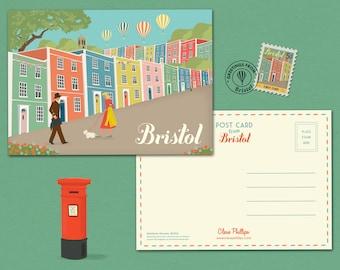 Bristol Postcard Rainbow Houses