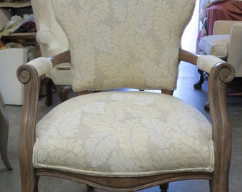 Curran Accent Chair In Leaf Pattern   Totally Refurbished   Shipping Costs  Vary