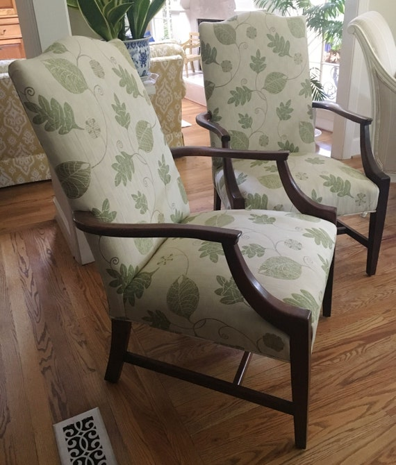 Wondrous Fall Sale Pair Of Leaf Patterned Martha Washington Chairs Totally Refurbished Shipping Rates Vary Uwap Interior Chair Design Uwaporg
