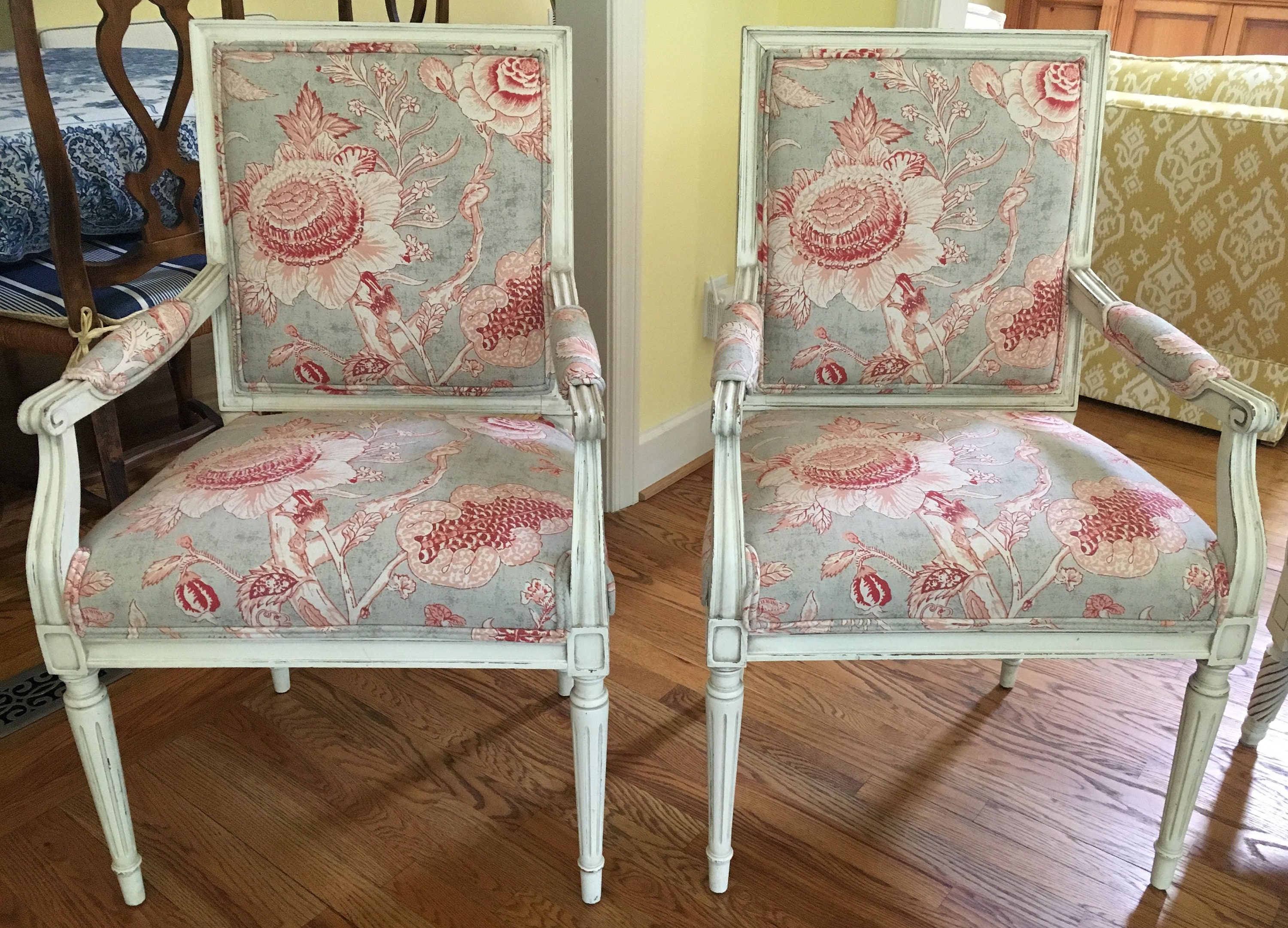 Pair Of Freshly Lacquered French Style Chairs In Thibaut Etsy