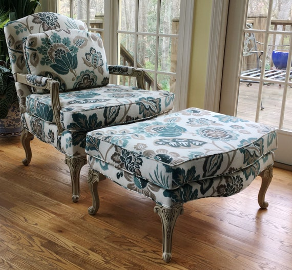 Delicieux Parker Southern Bergere Chair And Ottoman In Braemore Fabric | Etsy
