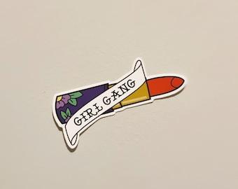 Girl Gang Vinyl Sticker