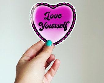 Love Yourself // Vinyl Sticker