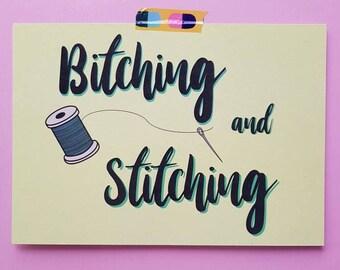 Bitching and Stitching // A5 print