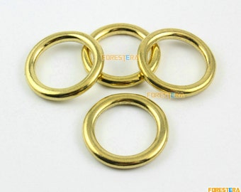 12 Pieces 22mm Solid Brass O Ring For Purse Bag Handbag Strap Dee Ring (BORING4)