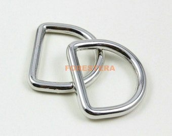 10Pcs D Ring Metal D Ring Inner Diameter 26.5mm (G5011)
