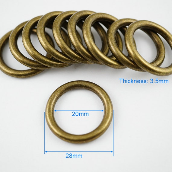 10 mm, 15 mm, 20 mm, 25 mm, 30 mm, Piel Anillas para Llavero Abbeytops