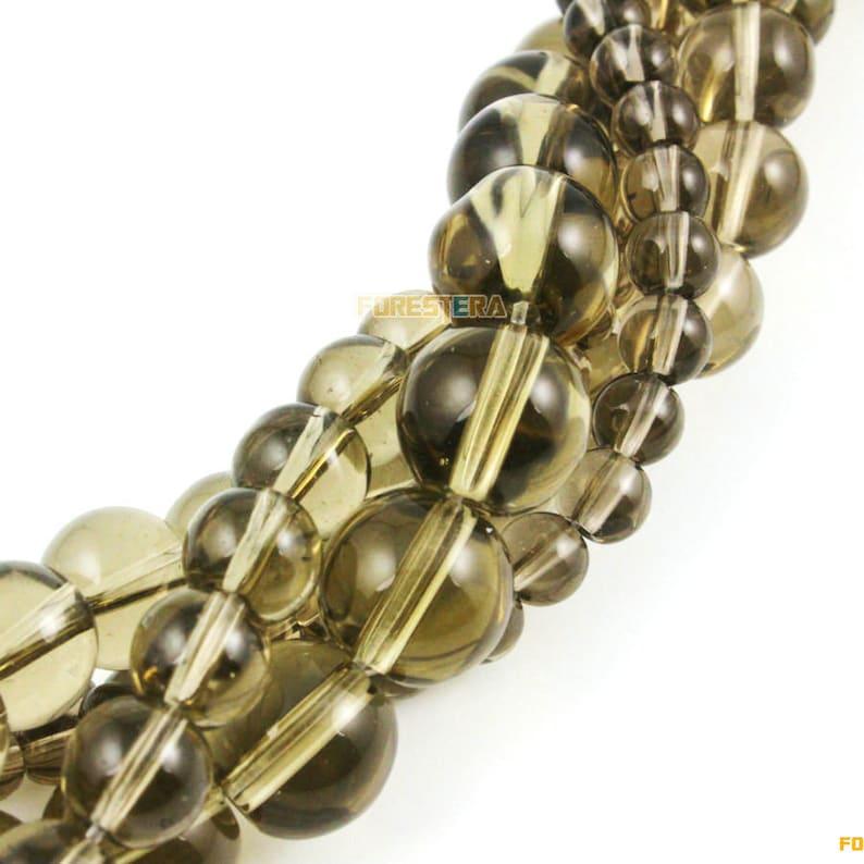 10mm Smoky Quartz Glass Bead Brown Glass Bead for Jewelry BEAD-A08-10