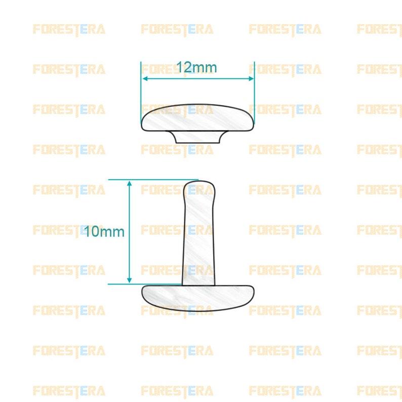 Cap Diameter*Shank length SR-RI12x10 12*10mm Silver Double Cap Round Rapid Rivet Punk Rock Leathercraft Rivet 12*10mm Size