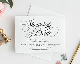 Editable Template - Instant Download Musical Bridal Shower Invitation