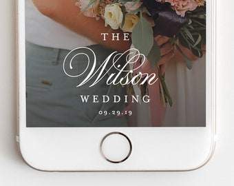 Snapchat Geofilter - Editable Instant Download Wedding Geofilter for Snapchat
