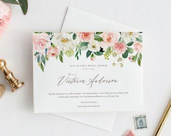 Editable Template - Instant Download Spring Romance Bridal Shower Invitation