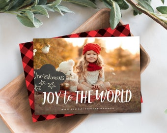 Editable Template - Instant Download Joy to the World Holiday Photo Card